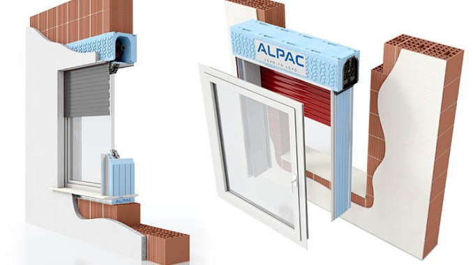 Alpac Presystem, isolamento termico per il foro finestra