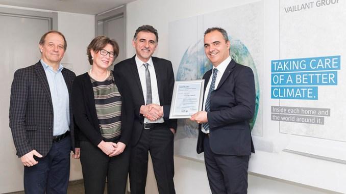 Vaillant, il TÜV certifica il processo di gestione del credito