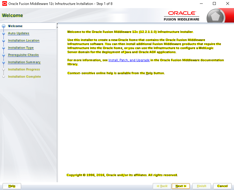 Installing WebLogic 12c and creating your first Cluster