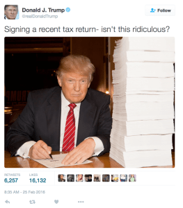 PIC Trump Tax Return