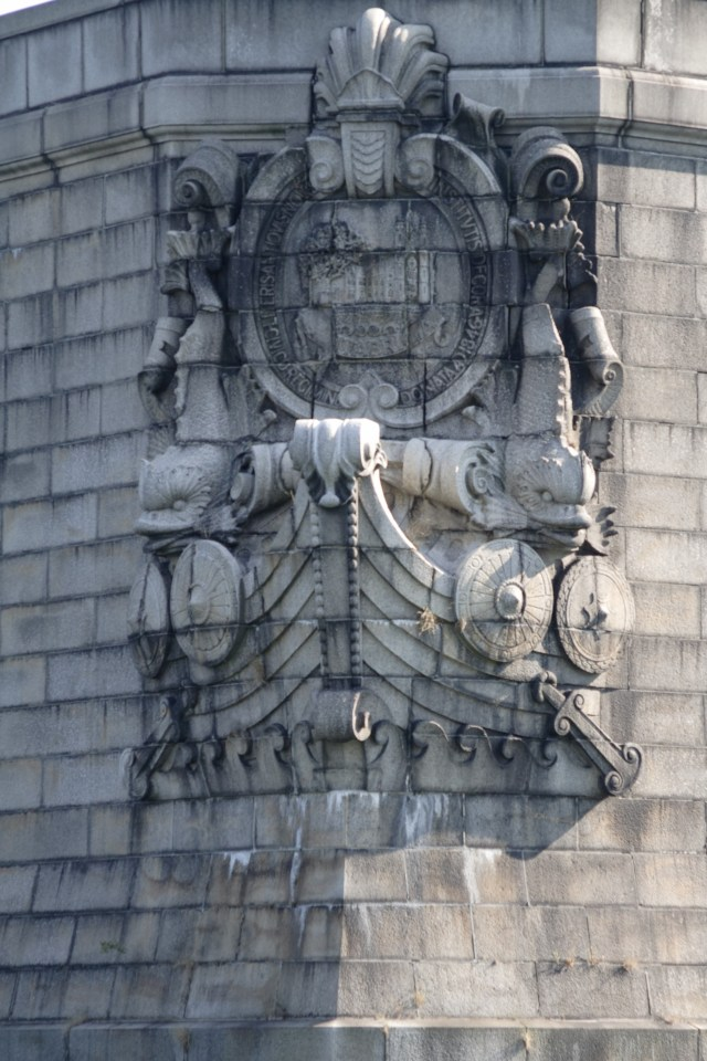 Detail of sculpture on the Longfellow Bridge