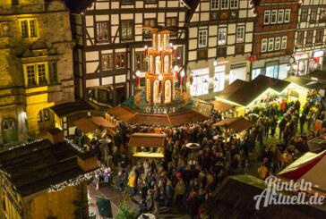 Rintelner Adventszauber: Der Altstadt-Weihnachtsmarkt vom 25.11. bis 29.12.2016