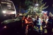 PKW von Zug erfasst und mitgeschleift: Feuerwehren üben den Ernstfall