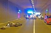Als Geisterfahrer im Weserauentunnel unterwegs: Motorradfahrer bei Unfall schwer verletzt