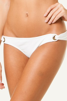 Solid White Eyelet Bottom