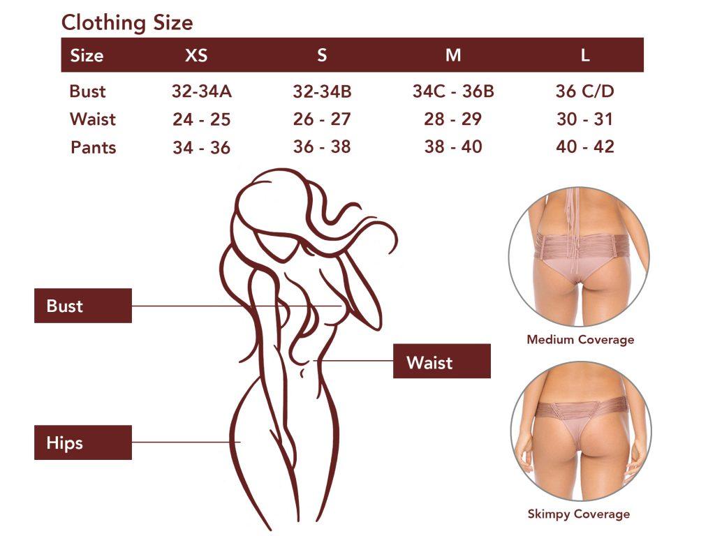 Indah Size Chart