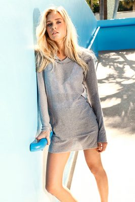 Peixoto Belize Midnight Grey Beach Sweater