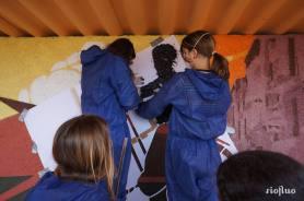 La ville de Porto-Vecchio, accueillant le départ de la 100ème du Tour de France de cyclisme, a mandaté Riofluo afin de rénover et embellir ses abribus et de créer en parallèle des ateliers d'initiation au Street-art avec les collégiens de la ville. 7 jours de création pour un résultat à la hauteur des vœux de la mairie. La Corse nous a conquis aussi ! Abribus, Corse, Cyclisme, Tour de France, Méditerranée, Graffiti, Street-Art, participatif, sport, pochoirs, réhabilitation.