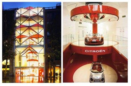 Afin de mettre en valeur l'installation de la voiture de Rallye de Sébastien Loeb au sein du Brandstore Citroën des Champs Élysées, nous avons réalisé une anamorphose afin d'attirer l'attention du public sur l'animation d'expérience virtuelle de Citroën. Après validation en amont d'un croquis avec l'agence de communication de Citroën, s'en sont suivis 3 jours de réalisation sur place par 2 artistes.