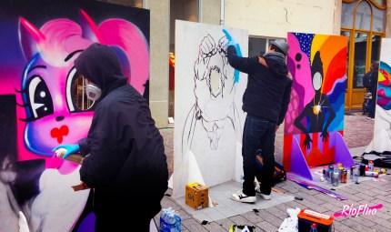 La ville de Saint Quentin organise depuis 5 années le festival Street-art « Ceci n'est pas un tag » durant lequel nous plaçons régulièrement des artistes via notre service EasyAap. Cette année le service de la culture de Saint Quentin nous a demandé directement de mettre en place un Face In Hole Contest et une anamorphose. Face In Hole, Anamorphose, Festival, Grand Public, Graffiti, Animations, Street-art, participative