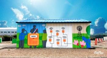Nous avons été mandatés par Le centre Energy Formation formant les futurs salariés de GRDF et Engie afin de réaliser une fresque didactique sur le thème du biogaz. Une fresque conceptualisée lors de rdv brainstorming avec leurs enseignants et réalisée par les artistes Sitou et Skio. Graffiti,, décoration, GRDF, biogaz, Végétal, gaz, couleur