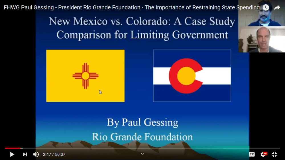 Webinar: the importance of restraining state spending, NM vs CO