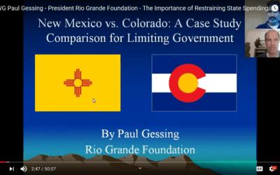 Webinar: the importance of restraining state spending, NM vs CO