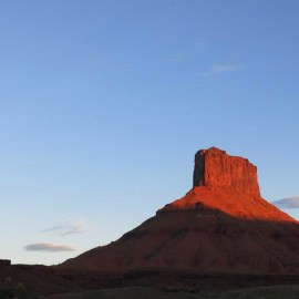 Photo of Fisher Tower, Moab Utah, RedRock, for Sierra Club Rio Grande Chapter website
