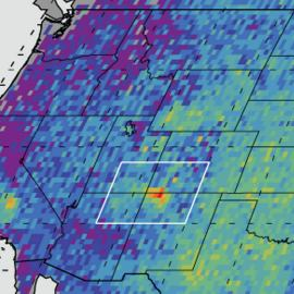 Map of western US that shows methane emissions