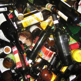 picture of glass to be recycled