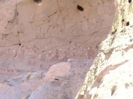 Petroglyphs on the left hand side of the Painted Cave.
