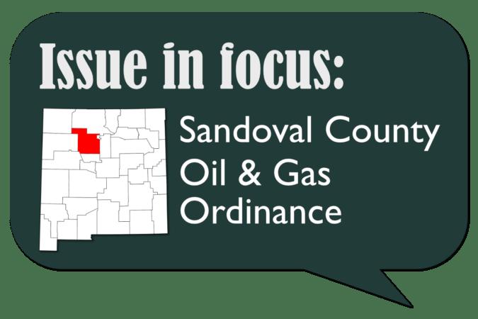 Sandoval County Oil & Gas Ordinance