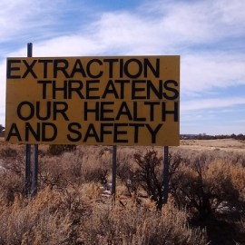 """Greater Chaco Employs """"Warning"""" Signs to Combat Fracking"""