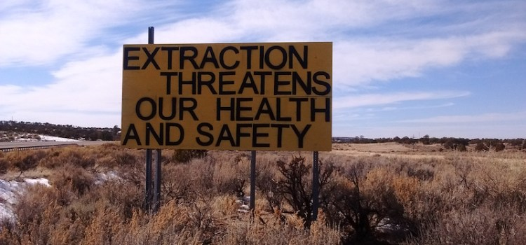 "Greater Chaco Employs ""Warning"" Signs to Combat Fracking"