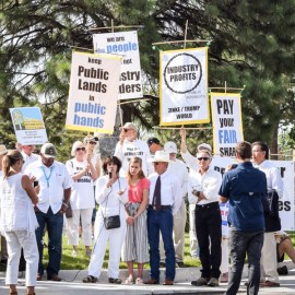 Community, Tribal, and Faith Leaders Protest DOIRoyalty Policy Committee in Albuquerque