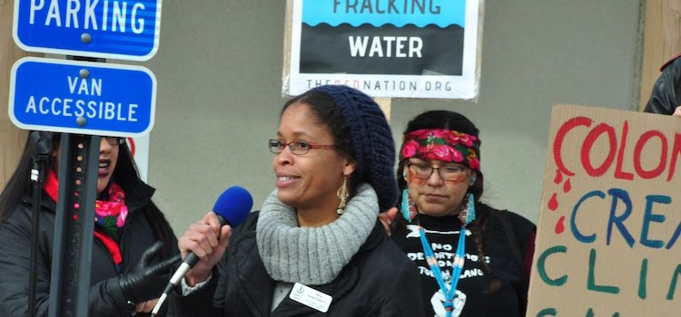 Greater Chaco Advocates Rally at BLM to Protest Sale of Over 89,000 Acres for Fracking