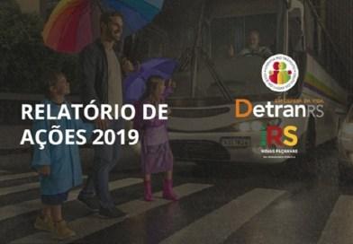 Relatório de Ações do DetranRS apresenta balanço de 2019
