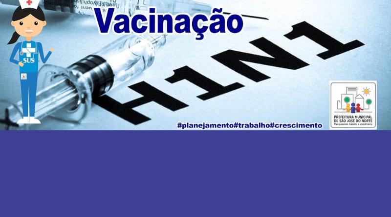 Terceira fase da Campanha de Vacinação da H1N1 continua na próxima semana em São José do Norte