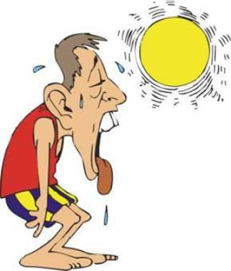 Heat exhaustion, dehydration, overheating, core teperature