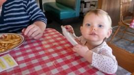 Miss Kennedy enjoying Creekside Diner