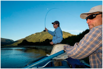 Fly fishing in Patagonia Argentina.