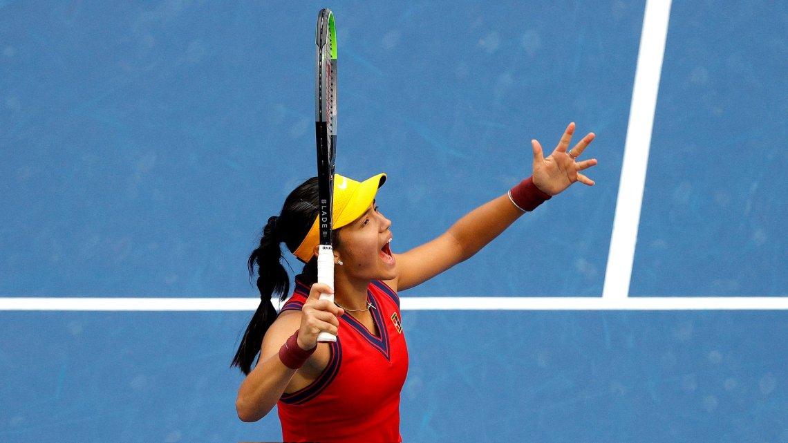 Raducanu, la piba de 18 años que ganó el US Open sin perder un set