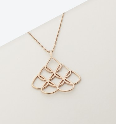 Large Rose Gold Pendant
