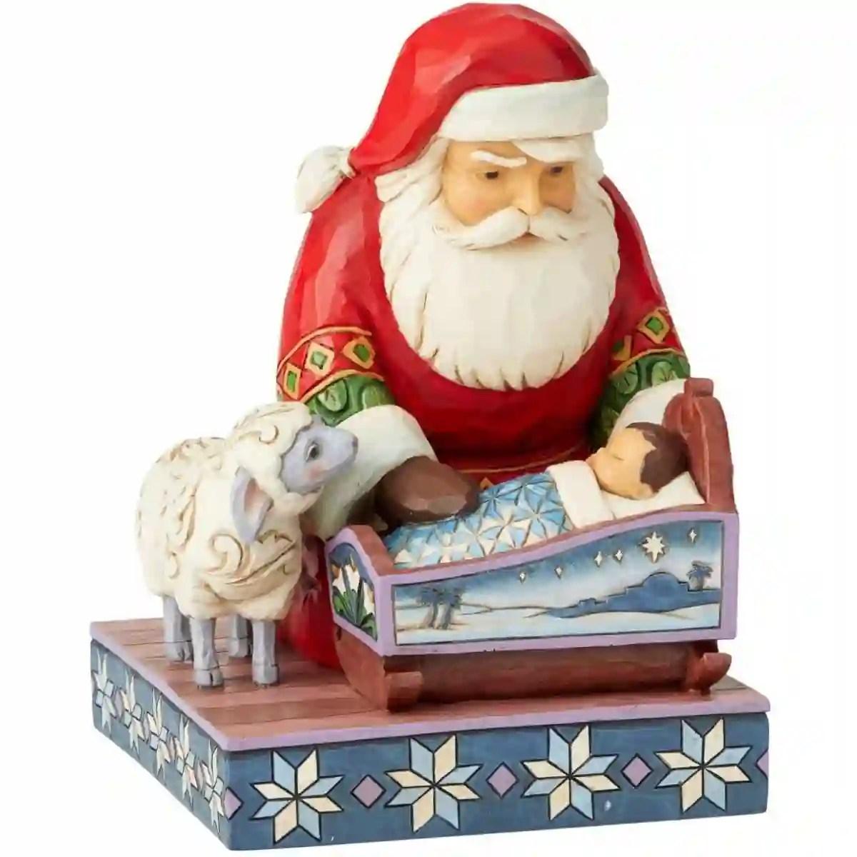 Nascita natale gesù bambino cristo felicit à chiesa. Babbo Natale Con Gesu Bambino Da 18 5 Cm Statuina Decorativa