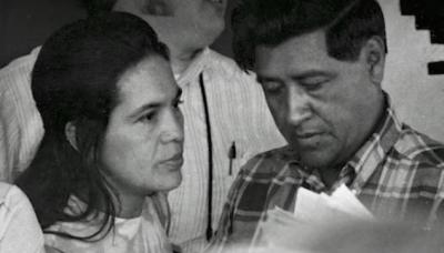Dolores Huerta and Cesar Chavez