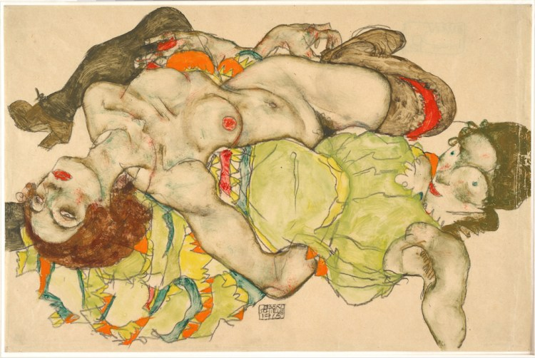 Egon Schiele, Female Lovers, 1915