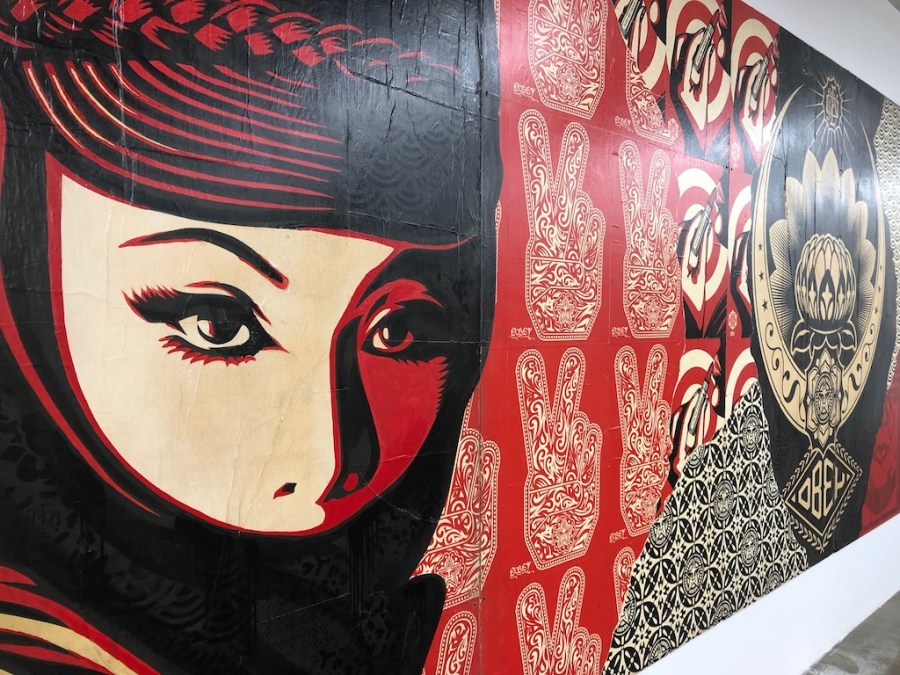 Shepard Fairey, installation view at Beyond The Streets, Los Angeles