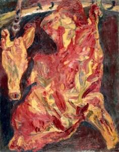 Chaim Soutine, Side of Beef and Calf's Head (around 1925)