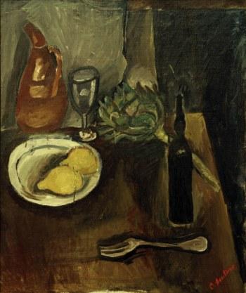 Chaim Soutine, Still life with artichoke, 1916