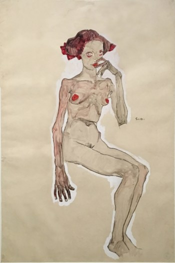 Egon Schiele, Seated Nude Girl, 1910