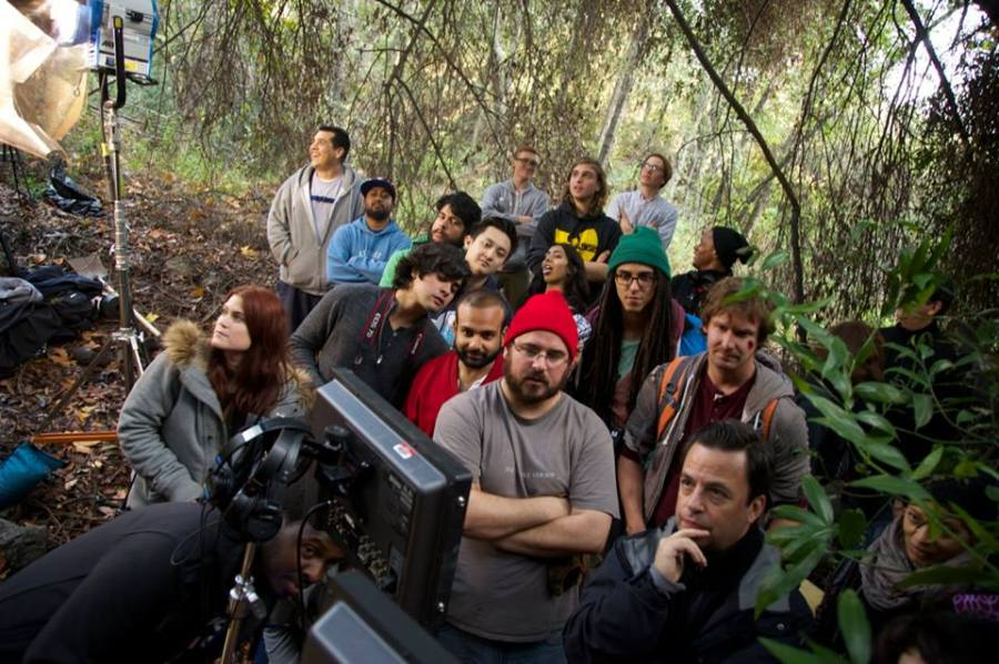 SMC cast and crew on set of Like A Rolling Stone