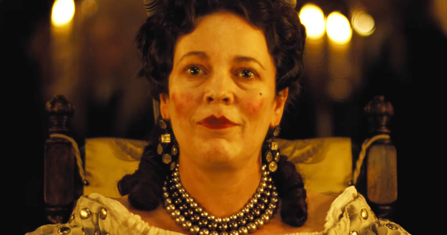 "Olivia Coleman as Queen Anne, in ""The Favourite"""