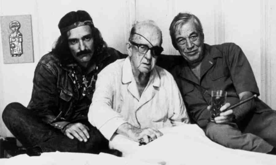 Dennis Hopper, John Ford and John Huston in Orson Welles The Other Side of the Wind. Reviewed at Riot Material magazine.