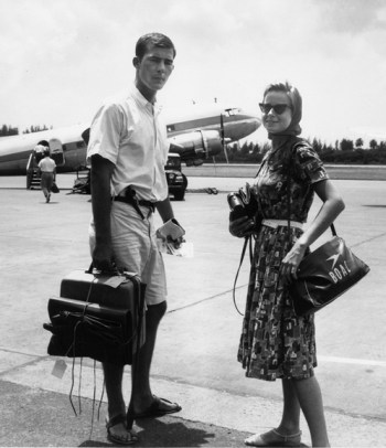 Hunter S. Thompson with then wife Sandra Dawn Conklin, 1963