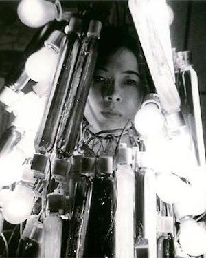 Atsuko Tanaka in 1957, wearing her Electric Dress
