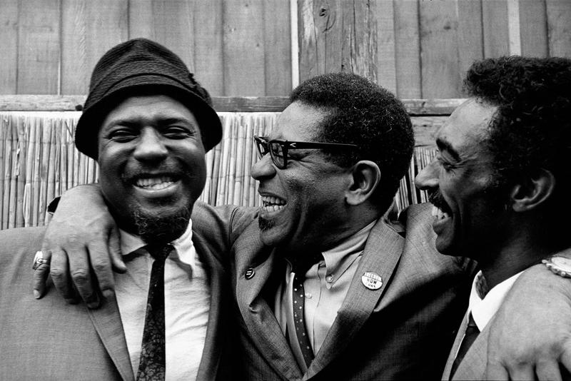 Thelonious Monk, Dizzy Gillespie, and Gerald Wilson at the Monterey Jazz Festival, 1963