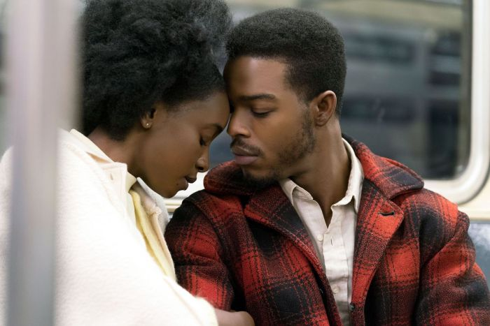 Kiki Layne and Stephan James in If Beale Street Could Talk, reviewed at Riot Material magazine