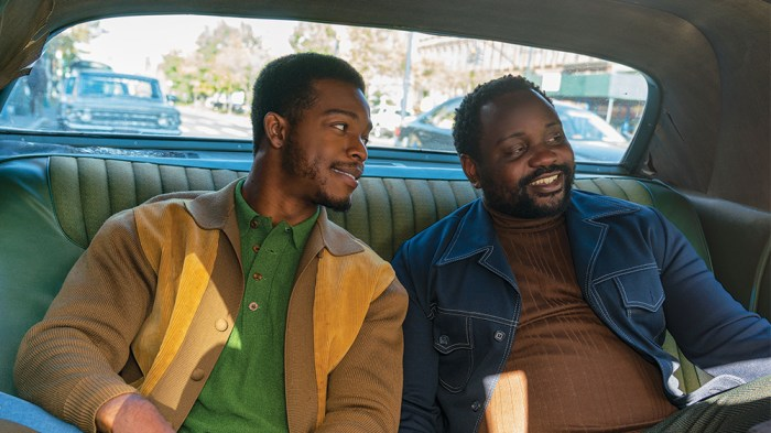 Brian Tyree Henry and Stephan James in If Beale Street Could Talk, reviewed at Riot Material magazine