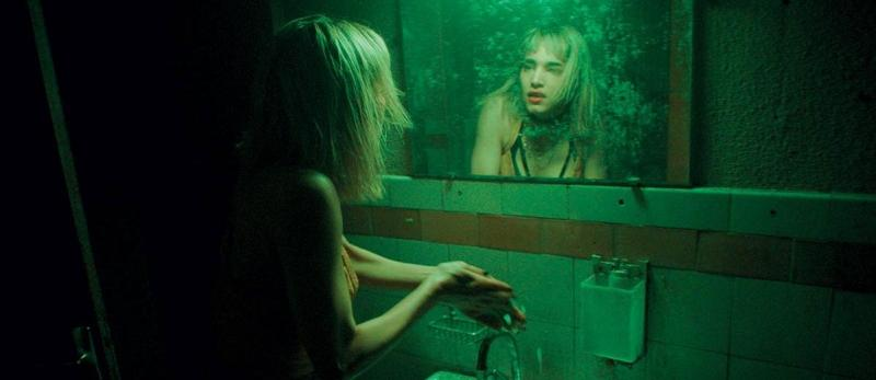 Sofia Boutella in Climax. Climax is reviewed at Riot Material magazine.