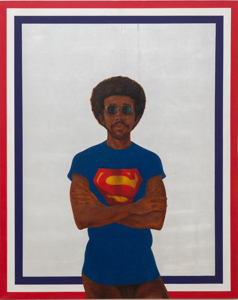 Barkley L. Hendricks, Icon for My Man Superman (Superman Never Saved Any Black People – Bobby Seale), 1969.